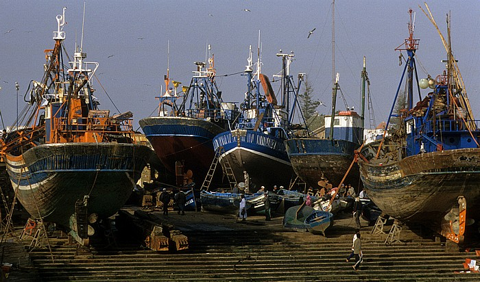 Essaouira Hafen: Reparaturarbeiten