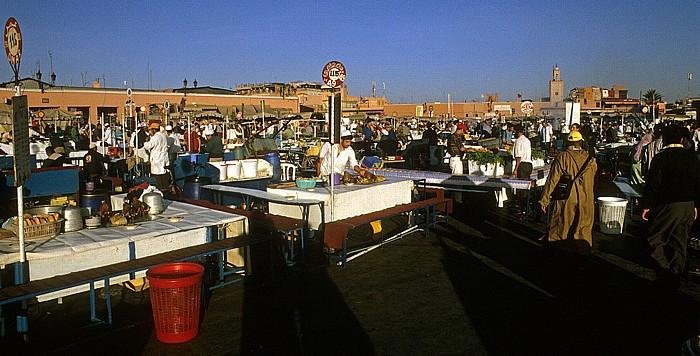 Marrakesch Place Djamaa el-Fna: Essensstände Place Djemaa el Fna