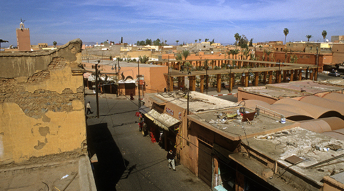 Marrakesch Blick vom Palais El Badi: Place des Ferblantiers