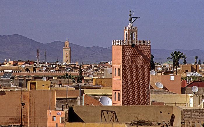Marrakesch Palais el Badi: Blick Richtung Innenstadt Palais El Badi