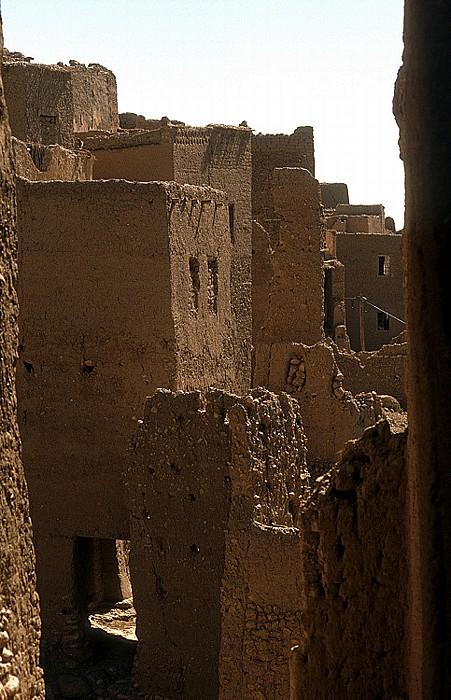Tinerhir Teilweise verfallene Kasbahs