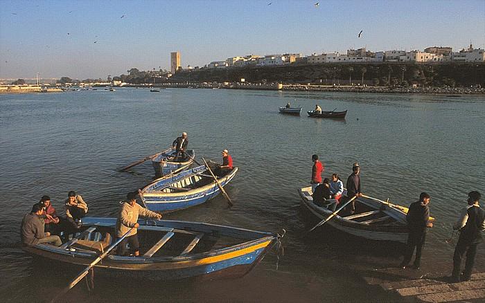 Salé Fährboote auf dem Bou Regreg Oued Bou Regreg