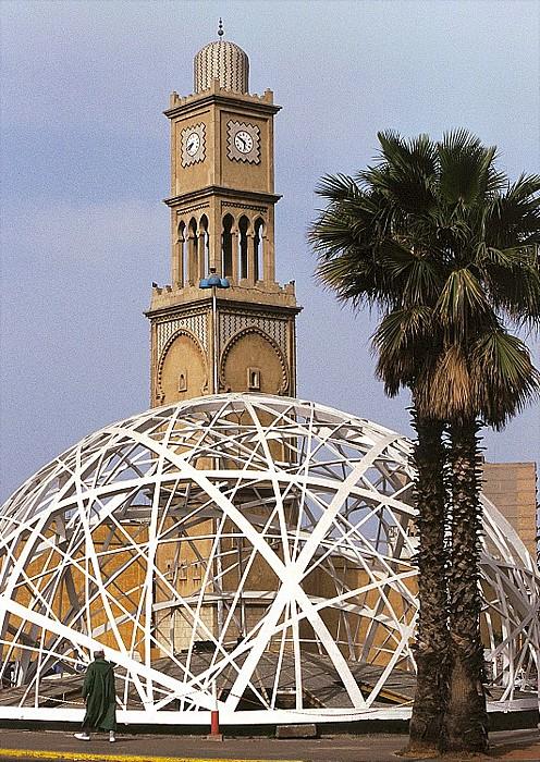 Casablanca Place Mohammed V Uhrenturm