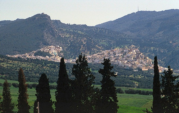 Volubilis Blick auf Moulay Idriss