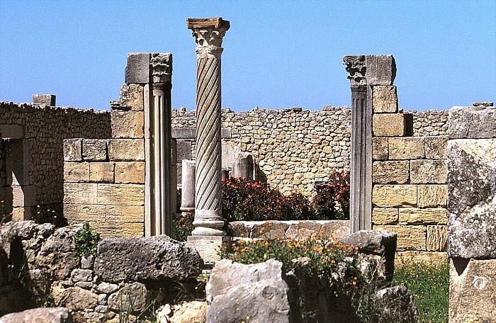 Volubilis Römische Ausgrabungen: Haus der Säulen