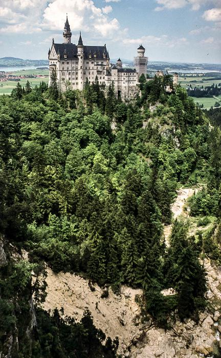 Schwangau Blick von der Marienbrücke: Schloss Neuschwanstein