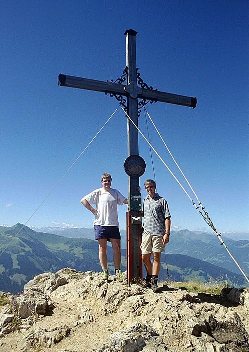 Gratlspitz Jürgen und Axel auf dem Gipfel