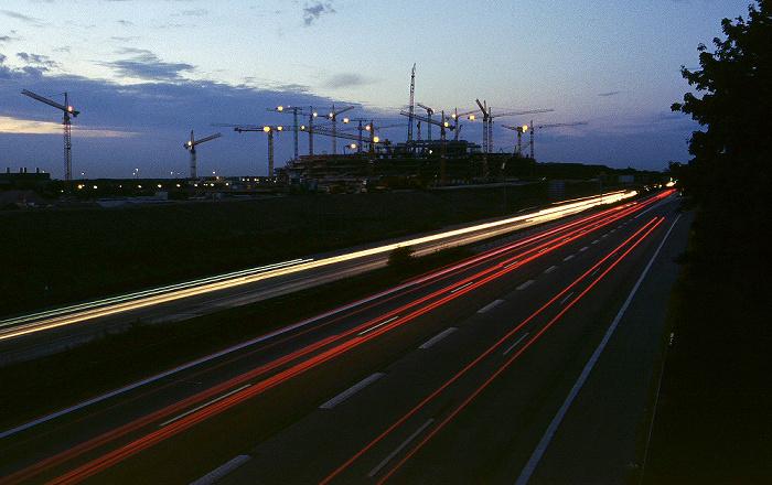 München Autobahn A9 in Richtung Nürnberg Allianz Arena