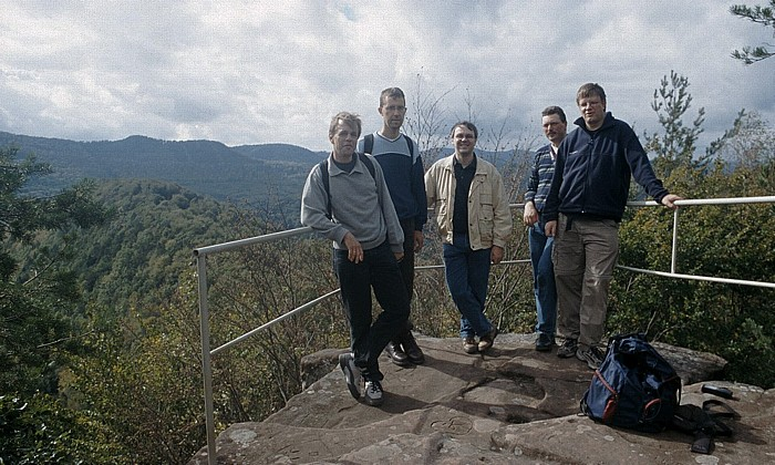 Niedersteinbach Zigeunerfelsen: V.l. Ralph, Jörg, Uwe, Boris, Jürgen