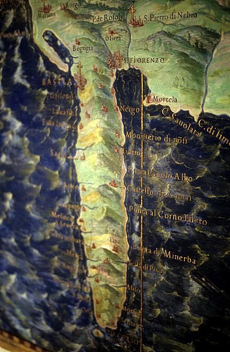 Vatikanische Museen: Kartenausschnitt von Korsika