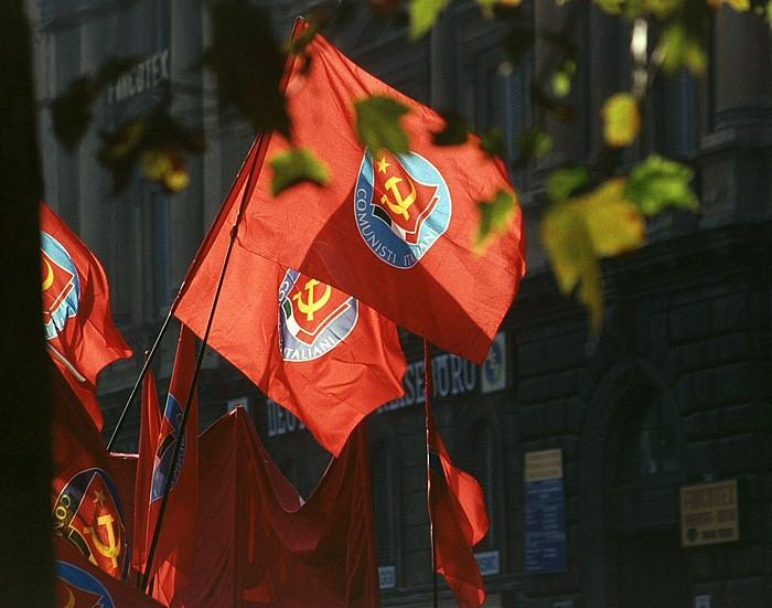 Rom Demonstration auf der Piazza dell'Esquilino