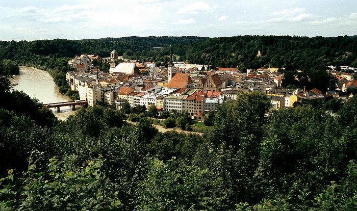 Wasserburg am Inn Schöne Aussicht: Inn und Altstadt Aussichtspunkt