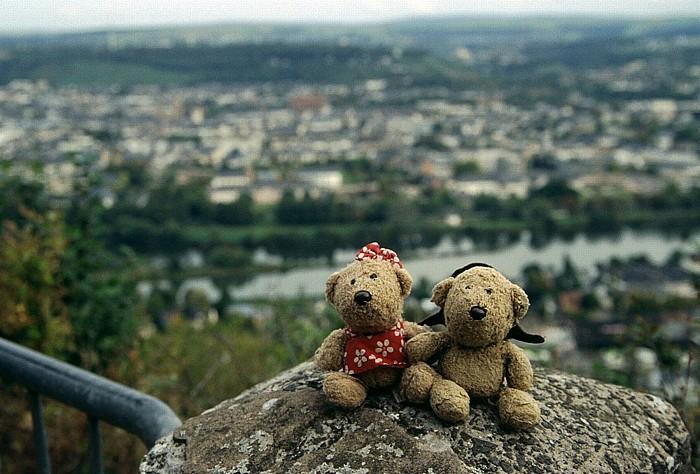 Trier Blick vom Fuß der Mariensäule: Teddine und Teddy