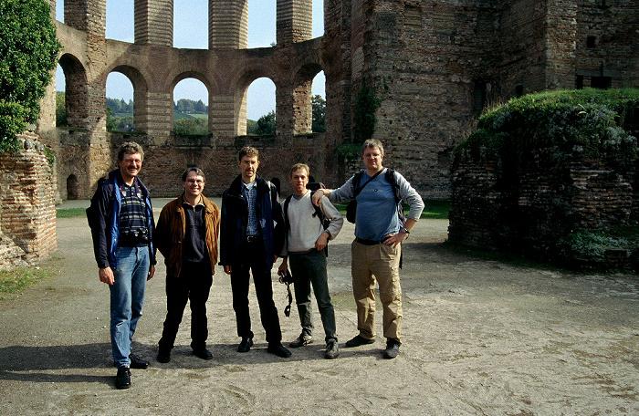 Trier Kaiserthermen: Boris, Uwe, Jörg, Ralph, Jürgen
