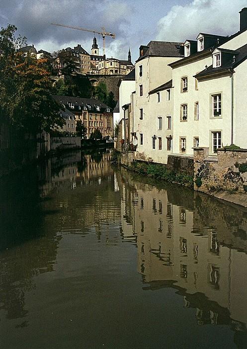 Luxemburg Unterstadt Grund, Alzette und Oberstadt mit St. Michael