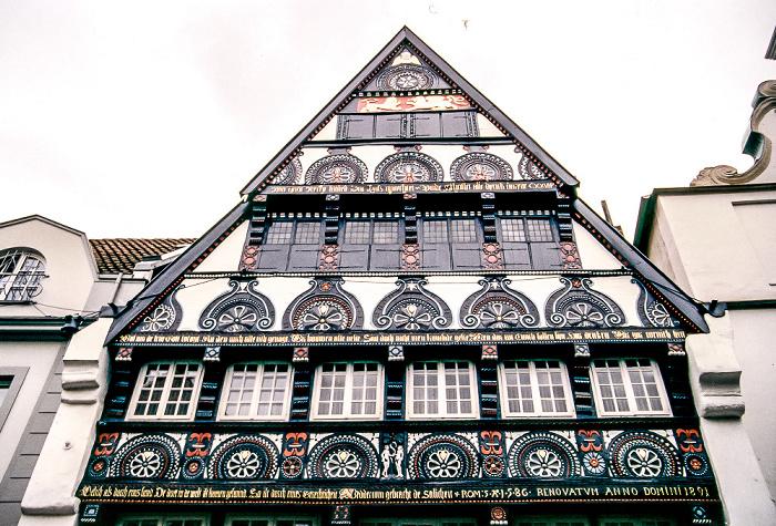Osnabrück Altstadt: Krahnstaße 7 (Weinhandlung Fohs) Schloss Veldenz