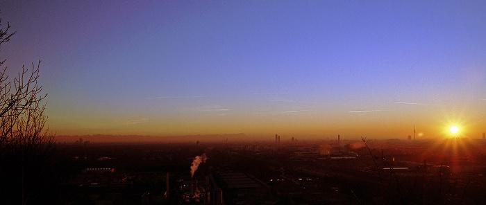 München Blick vom Fröttmaninger Berg