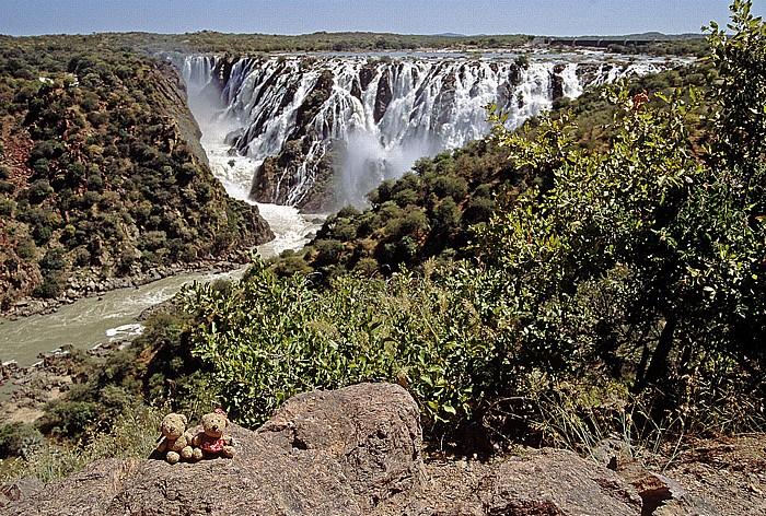 Ruacanafälle des Kunene: Teddy und Teddine