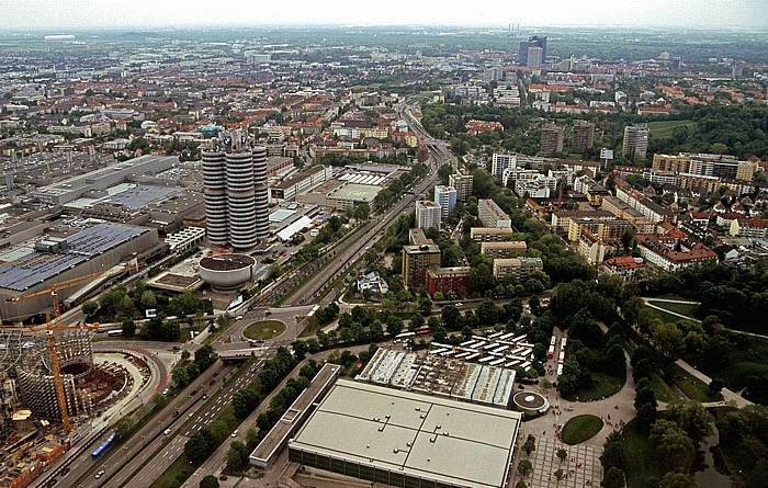 Blick vom Olympiaturm: Milbertshofen und Schwabing München 2005