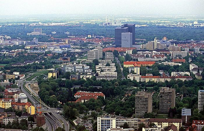 Blick vom Olympiaturm: Schwabing München 2005
