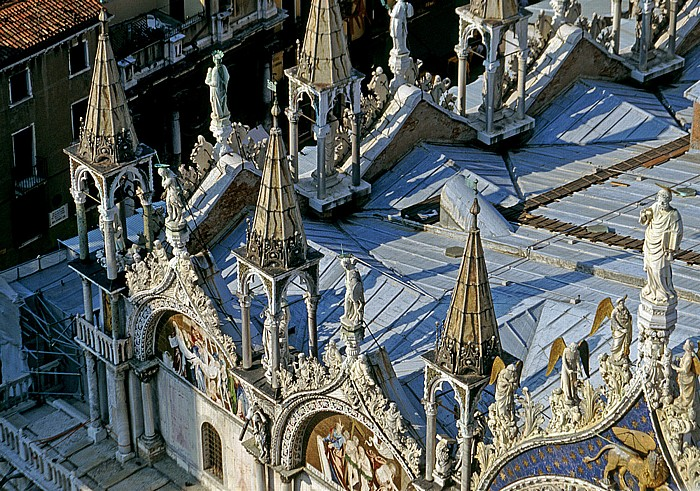 Venedig Blick vom Campanile: Basilica San Marco