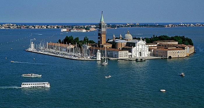 Venedig Blick vom Campanile: San Giorgio Maggiore Lido di Venezia