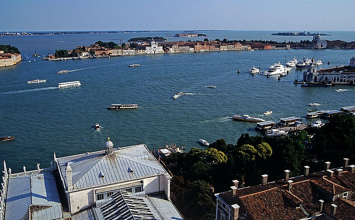 Venedig Blick vom Campanile: Giudecca Giardinetti Reali Zecca