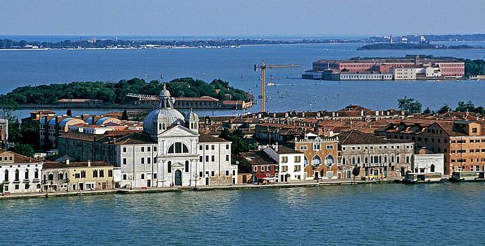 Venedig Blick vom Campanile: Giudecca Lido di Venezia Sacca Sessola San Clemente Santa Maria della Grazia