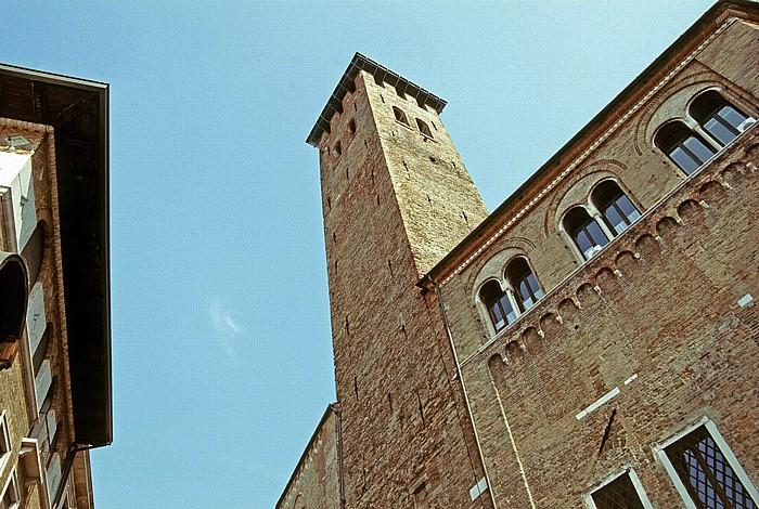 Padua Wehrturm des Palazzi Comunali