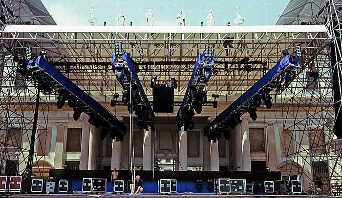 Stra Park der Villa Pisani: Bühne für das Mark-Knopfler-Konzert