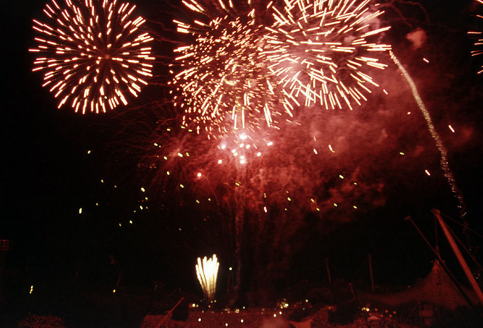 München Olympiapark: Feuerwerk