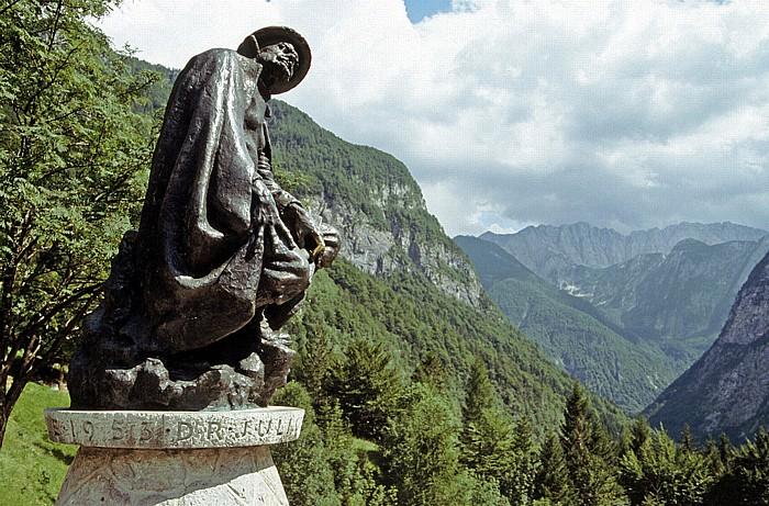 Julische Alpen Denkmal Julius Kugy im Trenta-Tal