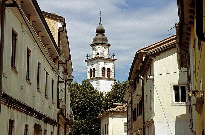 Vipava Turm der Sankt Stephanuskirche