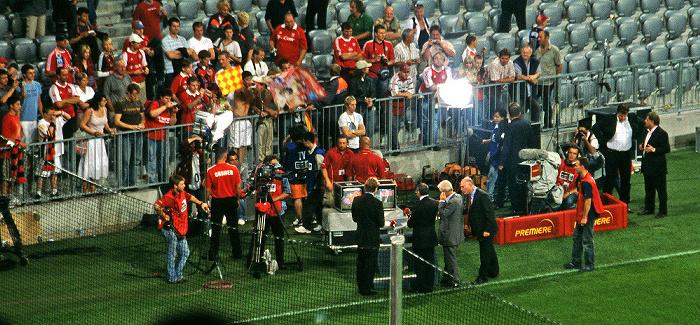 Allianz Arena: Ligapokal-Halbfinalspiel FC Bayern München - VfB Stuttgart