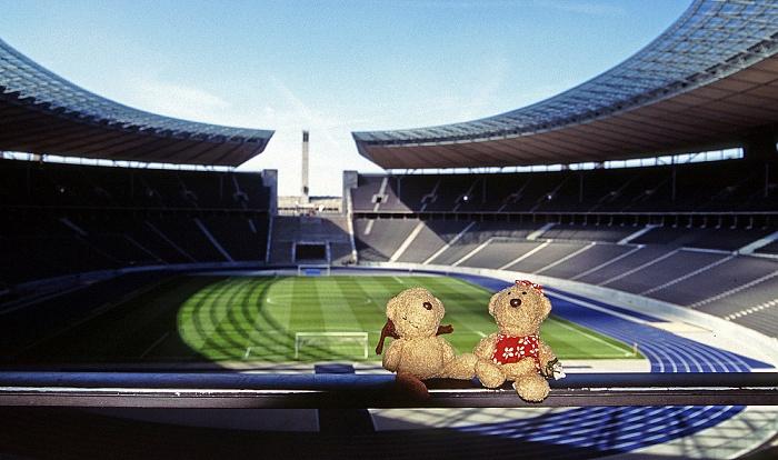 Berlin Olympiastadion: Teddy und Teddine