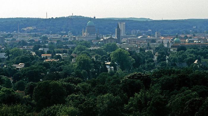 Potsdam Blick vom Belvedere auf dem Pfingstberg: Stadtzentrum