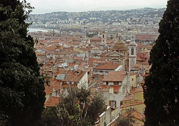 Nizza Blick auf die Altstadt Cathédrale Ste Réparate