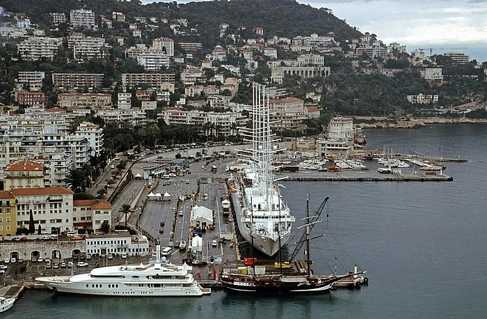 Nizza Blick vom Schlosshügel: Hafen und Lympia
