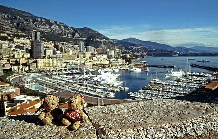 Monaco Schlosshügel: Teddy und Teddine Hafen Monte Carlo