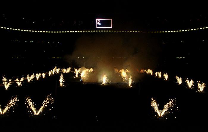 Allianz Arena: Weihnachtsfeuerwerk des FC Bayern München