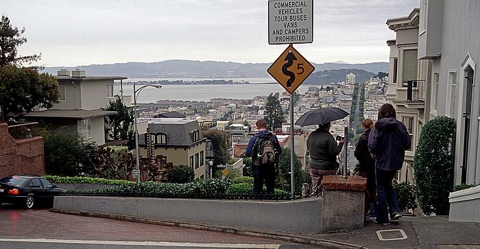 San Francisco Russian Hill: Lombard Street San Francisco Bay Treasure Island Yerba Buena Island