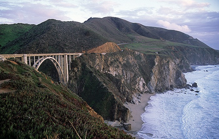 Big Sur Bixby Creek Bridge (Teil des Highway 1)