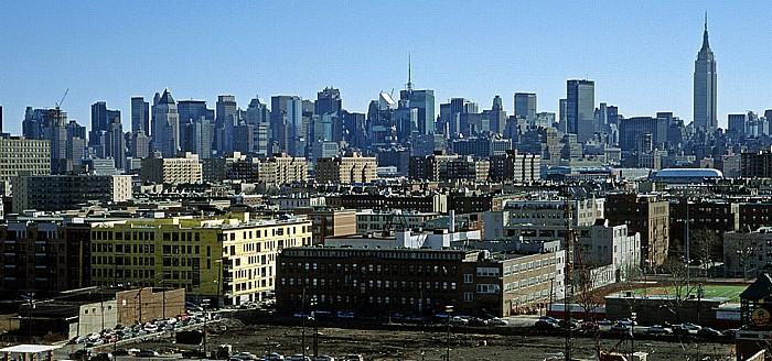 Jersey City Blick auf New York (Manhattan Midtown)