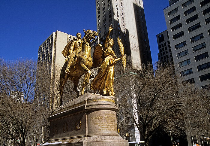 New York City Grand Army Plaza: General William Tecunseh Sherman Statue