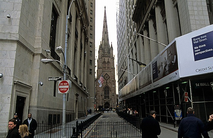 New York Financial District: Trinity Church, Wall Street