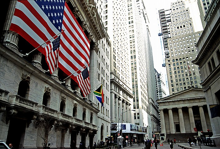 New York City Financial District: Broad Street Federal Hall New York Stock Exchange