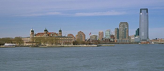 New York Upper Bay Ellis Island
