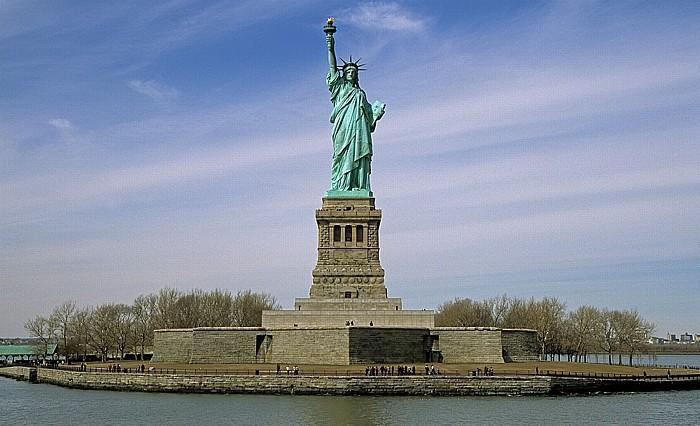 New York Liberty Island mit der Freiheitsstatue