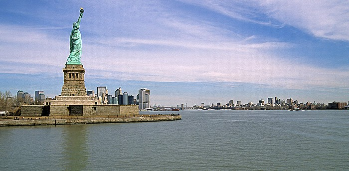 New York Upper Bay Brooklyn Freiheitsstatue Liberty Island Manhattan