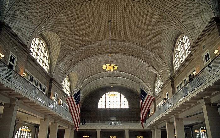 New York Ellis Island: Große Halle des Hauptgebäudes